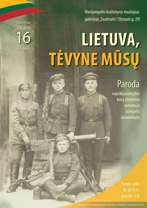 "Paroda ""Lietuva, Tėvyne mūsų"""