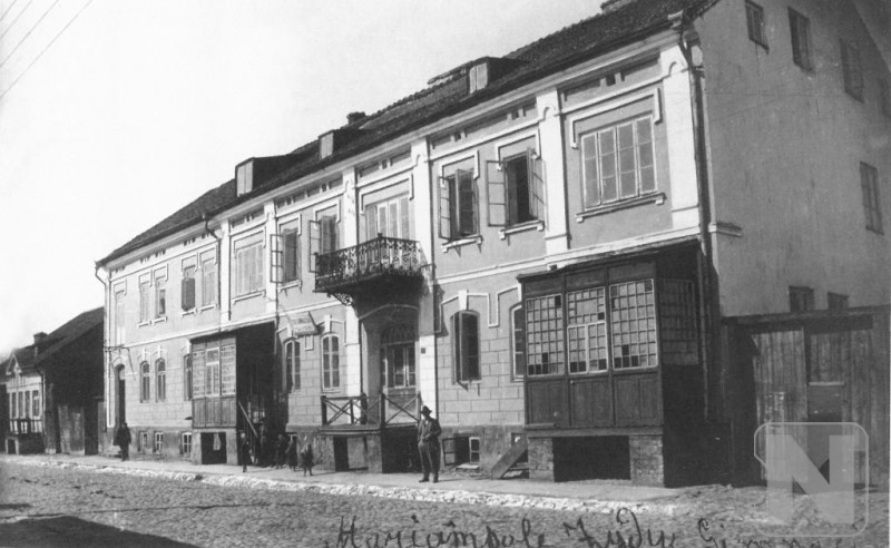 Marijampoles gymnasium of Jewish (now the wall of central post office)