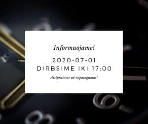 Read more about the article Informuojame!