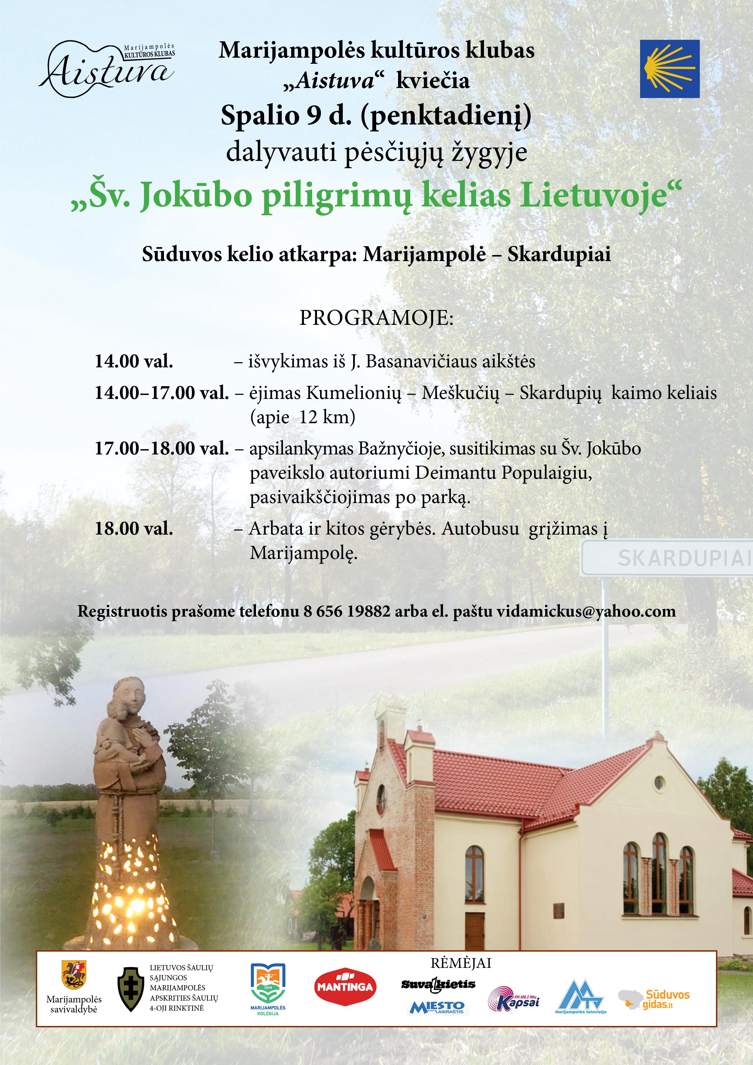 """Pėsčiųjų žygis """"Šv. Jokūbo piligrimų kelias Lietuvoje"""""""