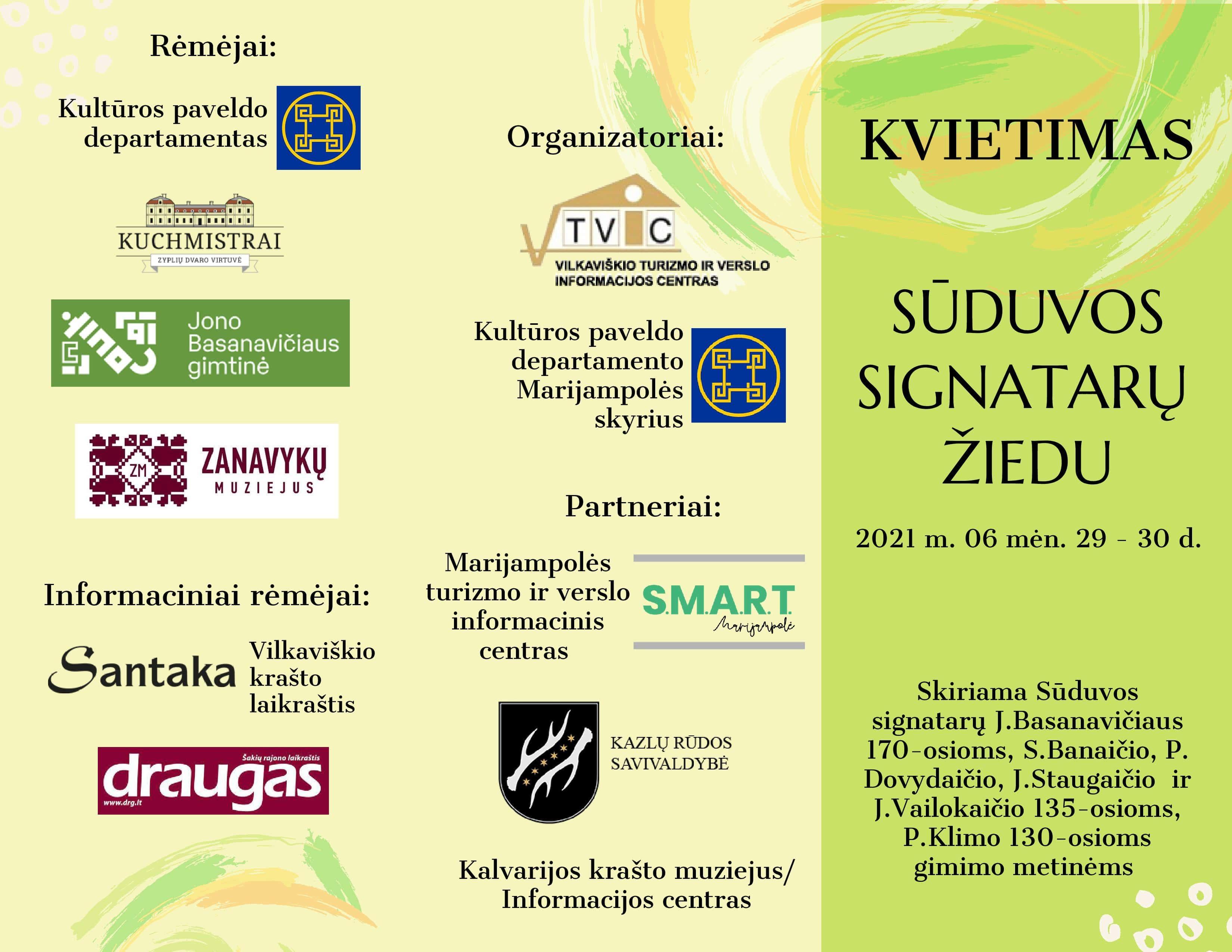 You are currently viewing Kviečiame pagerbti Sūduvos signatarų jubiliejus ir keliauti Sūduvos signatarų žiedu