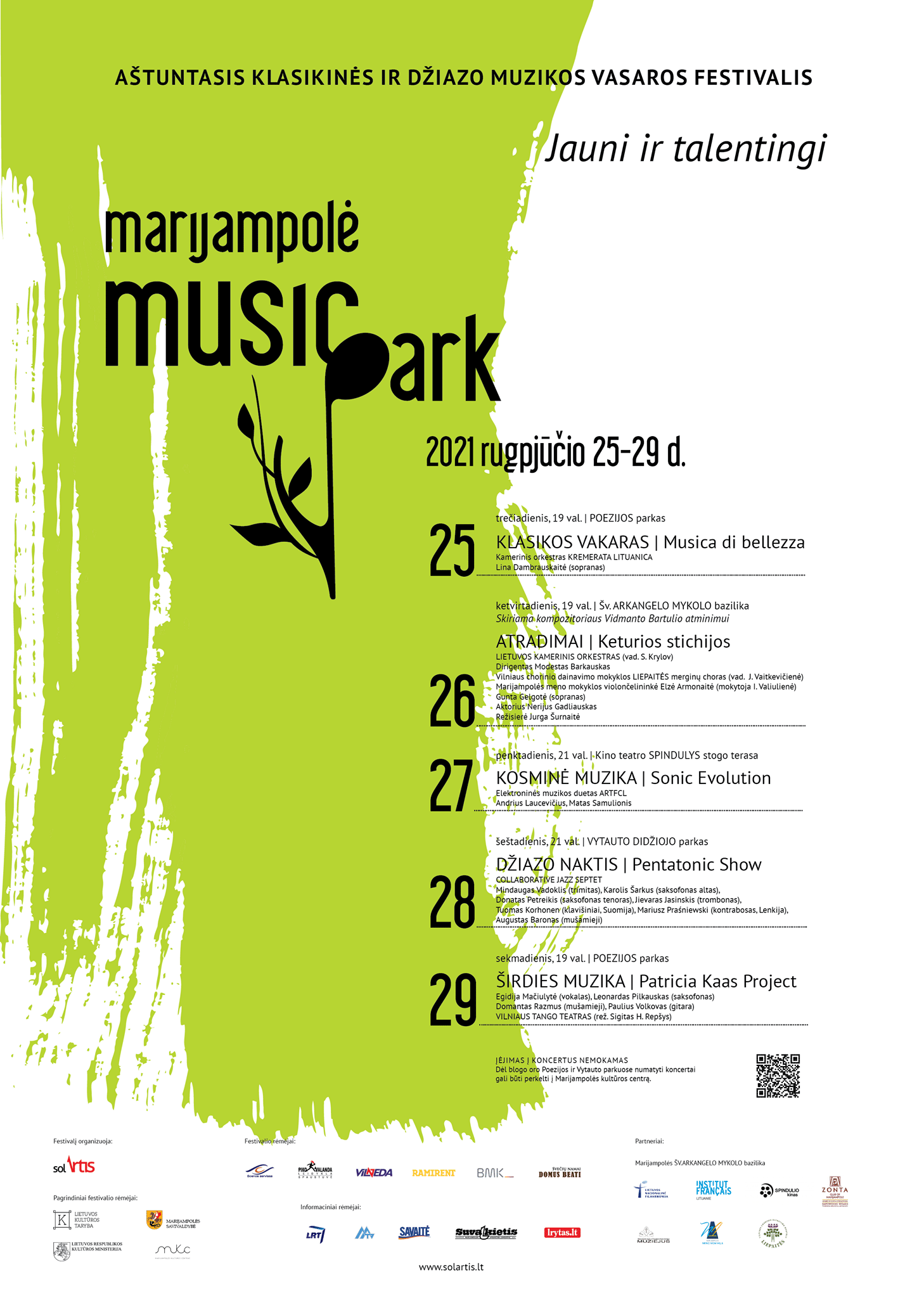 You are currently viewing Aštuntasis klasikinės ir džiazo muzikos vasaros festivalis MARIJAMPOLĖ MUSIC PARK