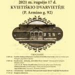 Kvietiškio dvarvietėje organizuojamas Europos paveldo dienų'21 renginys
