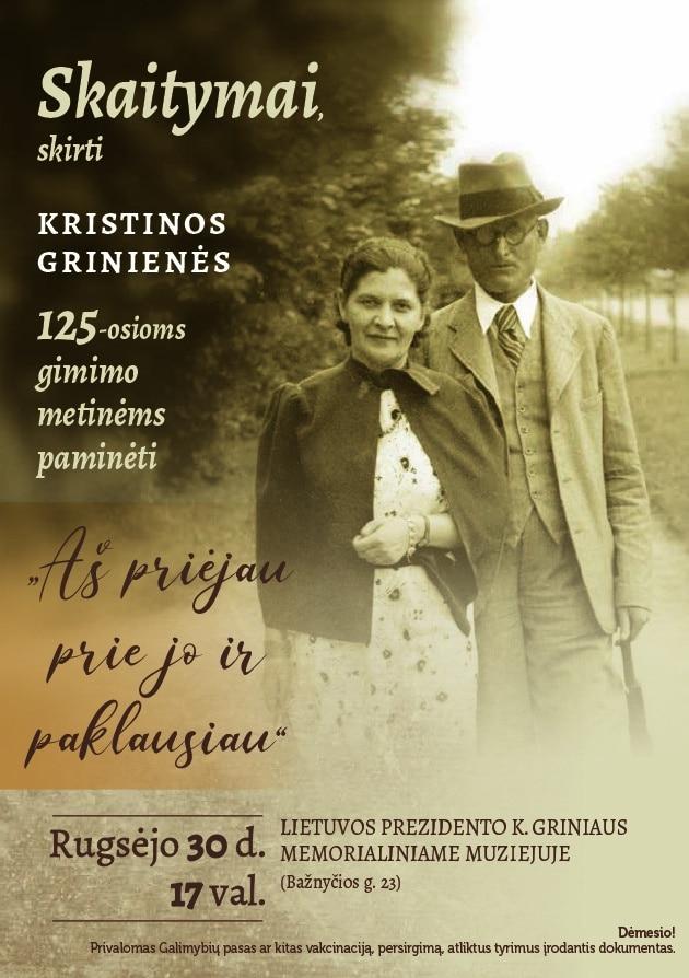 """Read more about the article Lietuvos prezidento K. Griniaus memorialiniame muziejuje vyks skaitymai """"Aš priėjau prie jo ir paklausiau"""""""