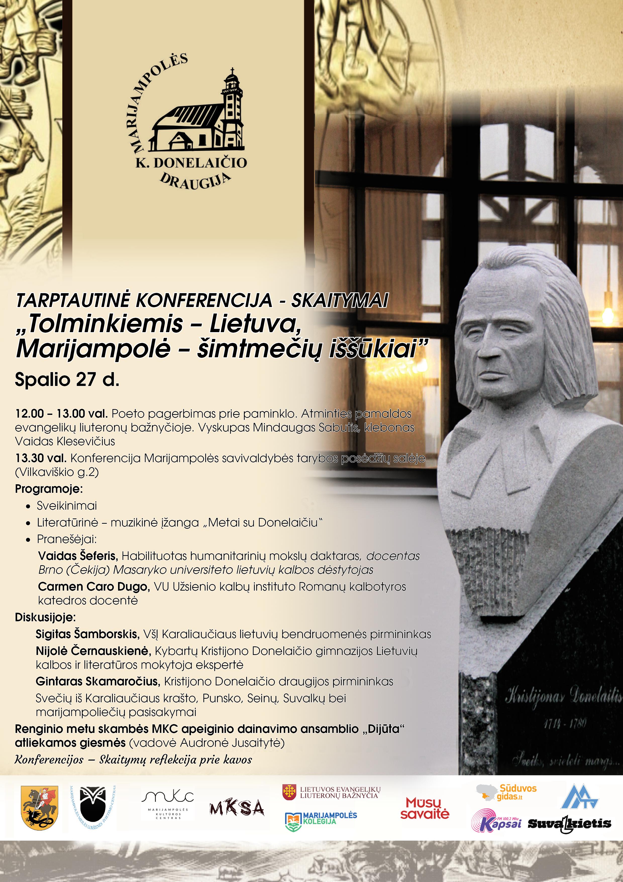 Read more about the article Marijampolės K. Donelaičio draugija kviečia į tarptautinę konferenciją